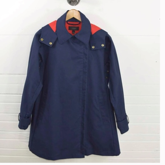 J.Crew Belvedere Swing Raincoat Trenchcoat S